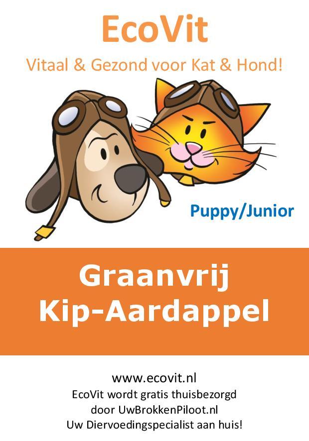 EcoVit Pup/Junior Graanvrij Kip-Aardappel