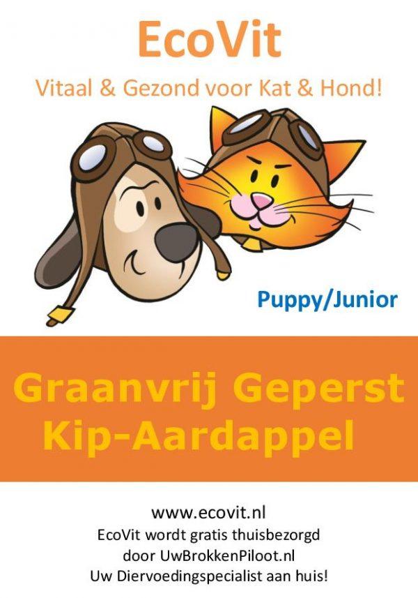 EcoVit Pup/Junior Graanvrij-Geperst Kip-Aardappel