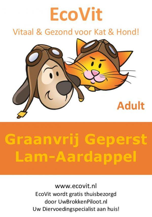 EcoVit Adult Graanvrij-Geperst Lam-Aardappel