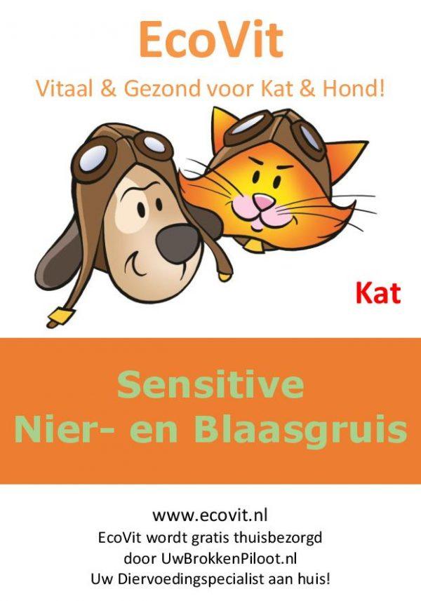 EcoVit Kat Sensitive Nier- en Blaasgruis