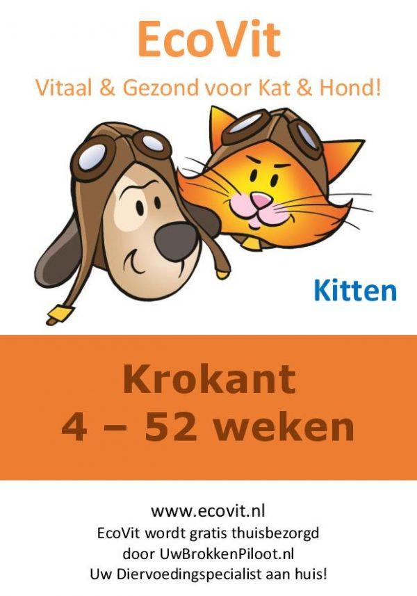 EcoVit Kitten Krokant 4 - 52 weken